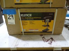 Klutch 10 in. Bench Mount Drill Press, (5) Speeds, 740 - 3140 RPM, 1/2 HP Motor, 1/2 in. Chuck