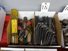 LOT: Assorted Allen Wrenches in (2) Boxes