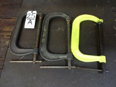 LOT: (3) C-CLAMPS