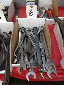 LOT: Open End Wrenches