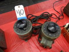 LOT: (2) Powerstat Variable Power Supplies