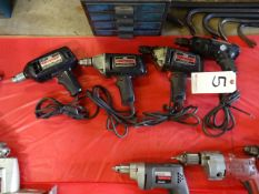 LOT: (4) Sears Craftsman 3/8 in. Electric Drills