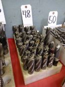 LOT: Assorted Milling Cutters on (1) Rack