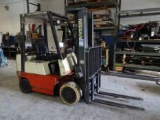 Nissan 3400 lb. Model CPJ02A20PV LP Forklift Truck, S/N 0PJ02-9P0007, 3-Stage Mast, Side Shift, 42
