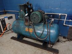 Curtis Toledo 20 HP Tank Mounted Air Compressor (needs repair)