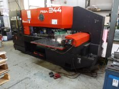 Amada 20 Ton Model Pega 244 (Pega 20 40 40) CNC Turret Punch, S/N 02440907 (1990), Amada 04PC