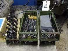 LOT: Assorted Drills, Taps & Milling Cutters