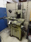 Okamoto 6 in. x 12 in./14 in. Linear Hand Feed Surface Grinder, S/N 4038, Walker Chuck Control,