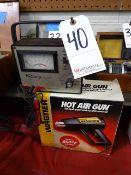 LOT: Advance Schools Voltac Meter & Wagner Hot Air Gun