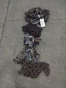 LOT: Assorted Rigging Chain