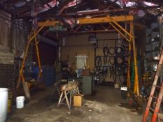 3 Ton Overhead Rail Mounted Gantry Crane, with P&H Hevi-Lift Electric Hoist
