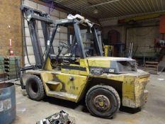 Caterpillar 14,350 lb. Model V155B Diesel Yard Lift Truck, S/N 2YJ00330, Side Shift (South Beloit)