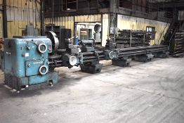 Schaerer 28 in. x 31 ft. Bed (approx.) Engine Lathe, S/N UDA700/16 512, 27 in. Face Plate, Steady