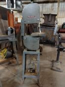 DELTA MILWAUKEE HOMECRAFT VERTICAL BANDSAW; S/N U4510, 1/4HP