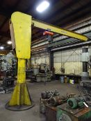 Industrial 2 Ton Free Standing Jib Crane, with CM Electric Hoist