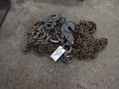 LOT: (2) Chain Slings with Sheet Grabs