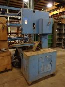 Grob 24 in. Model HS24 Vertical Band Saw, S/N 341