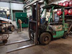 Mitsubishi 6000 lb. Model FG30 LP Forklift Truck, S/N AF13D-30992, 2-Stage Mast, Side Shift
