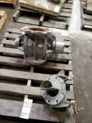 LOT OF 2 STAINLESS STEEL PARTS WITH BALDORE MOTOR