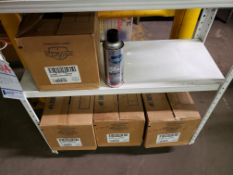 LOT OF 47 CANS OF RED CARTON STENCIL INK