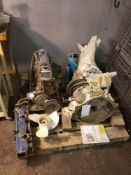 """OMC STERN DRIVE UNIT WITH BOAT MOTOR 120HP OMC """"IRON DUKE"""" INLINE 4 CYCLE ENGINE - AS IS"""