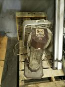 LOT OF 5 ASSORTED FANS AND HEATER
