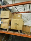 SKID OF 11 BOXES OF ASSORTED NEW BREAD BASKETS, MEASURING CUPS, EGG BEATER SPATULAS, AND PEG BOARD