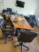 SET OF 6 LEATHER OFFICE CHAIRS IN GOOD CONDITION