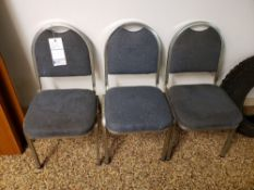 LOT OF 3 BLUE STACK CHAIRS