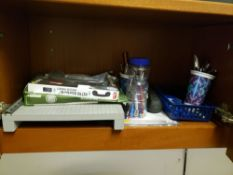 LOT OF OFFICE SUPPLIES IN CABINETS
