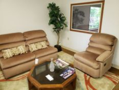LOVESEAT / FOLD OUT TWIN BED WITH MATCHING CHAIR