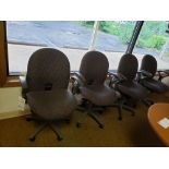 LOT OF 4 SWIVEL POSTURE CHAIRS WITH ARMS