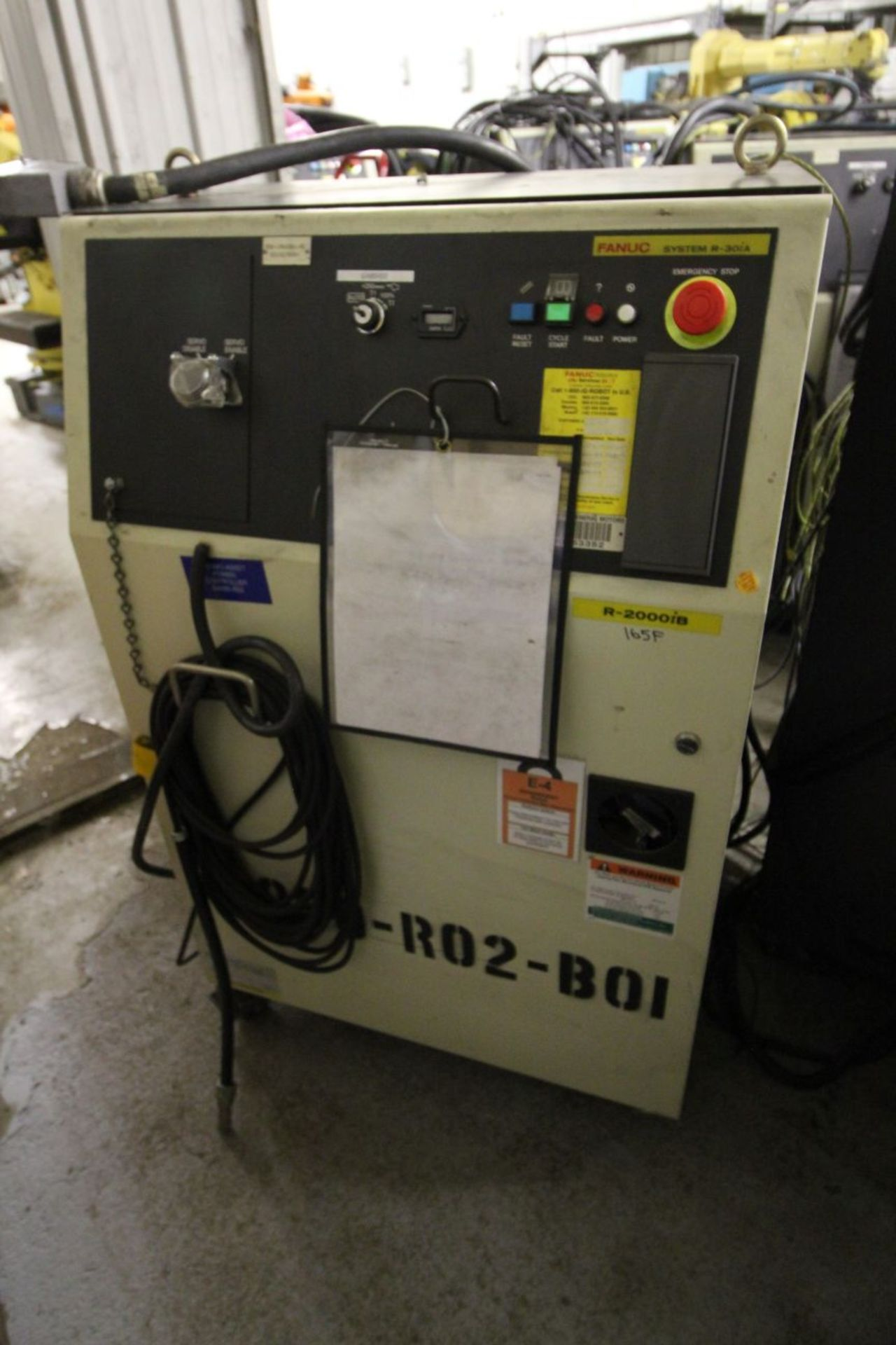 Lot 25 - FANUC ROBOT R-2000iB/165F WITH R-30iA CONTROL, TEACH & CABLES, YEAR 2011, SN 111666