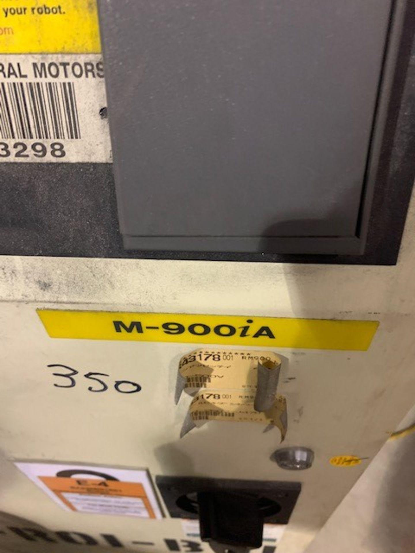 Lot 20 - FANUC ROBOT M900iA/350 WITH R-30iA CONTROL, TEACH & CABLES, YEAR 2011, SN 111639, ALUMINUM SPOT GUN