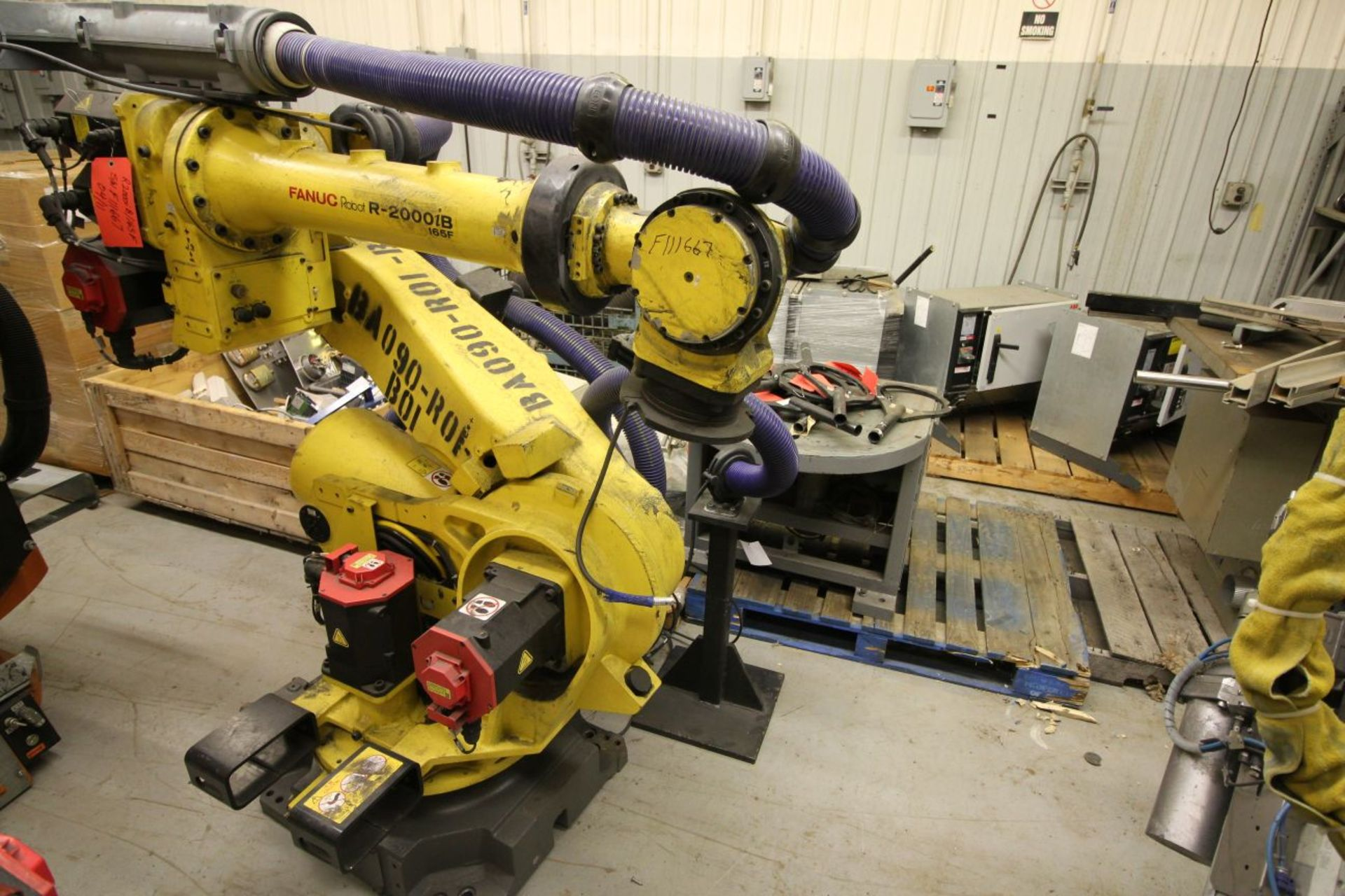 Lot 29 - FANUC ROBOT R-2000iB/165F WITH R-30iA CONTROL, TEACH & CABLES, YEAR 2011, SN 111667
