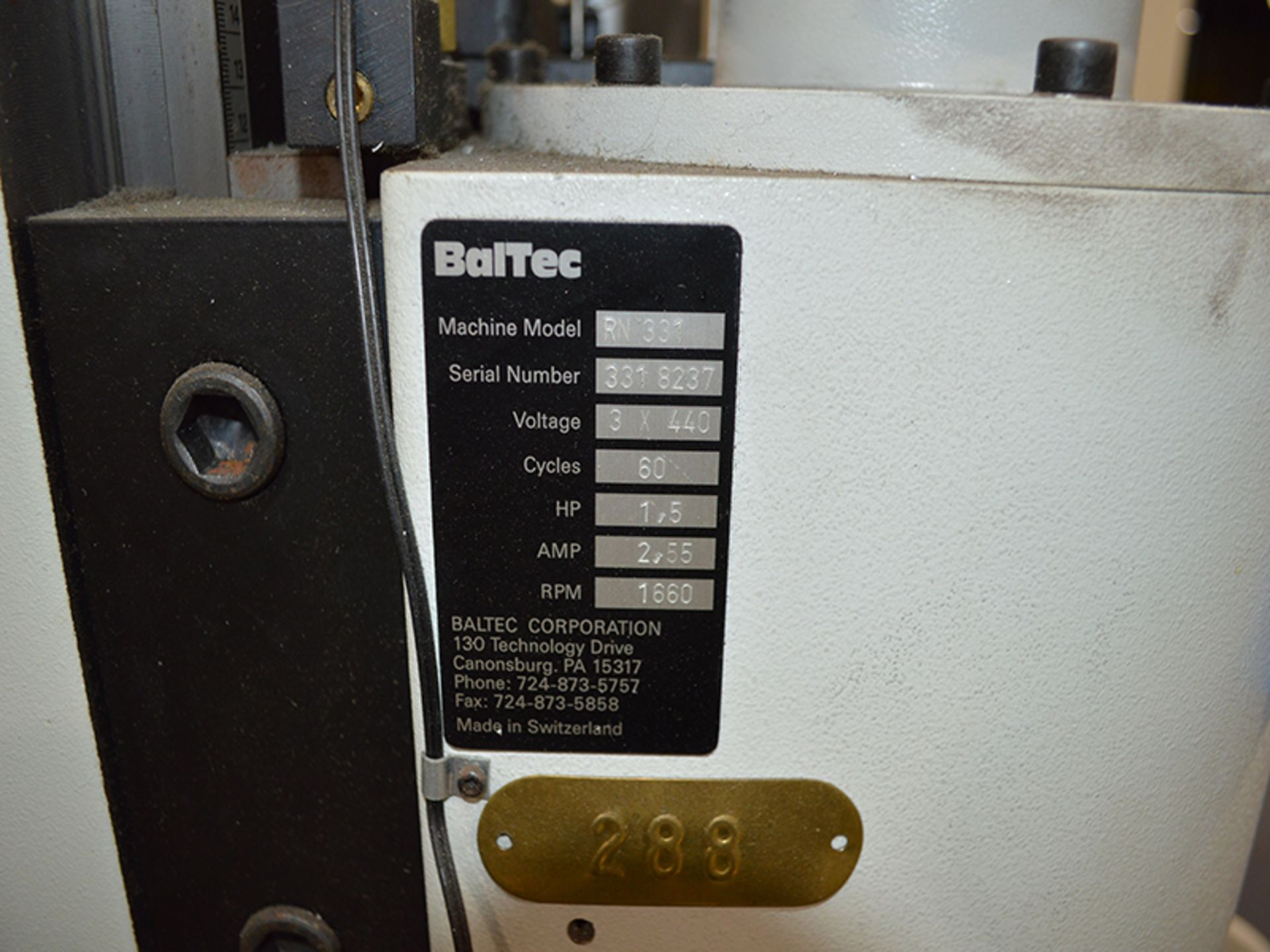 BALTEC BRACKER RN 331 PNEUMATIC RADIAL RIVETER, SN 331 8237 - Image 5 of 5