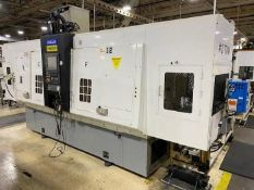 FUJI TNW 3500 TR TWIN SPINDLE TWIN TURRET CNC LATHES WITH GANTRY, YEAR 2008