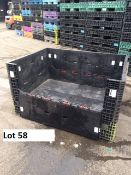 64x48x34 MIXED COLOR KNOCK DOWN PACKAGING CRATES, LOT 10, LOCATION OH