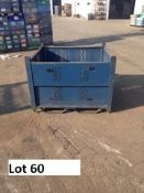 53x48x38 MIXED COLOR STEEL PACKAGING BINS, LOT OF 10