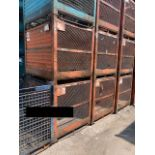 54x44x50 ORANGE SOLID METAL/WIRE BINS WITH EXPANDED METAL FLOOR, LOT OF 10