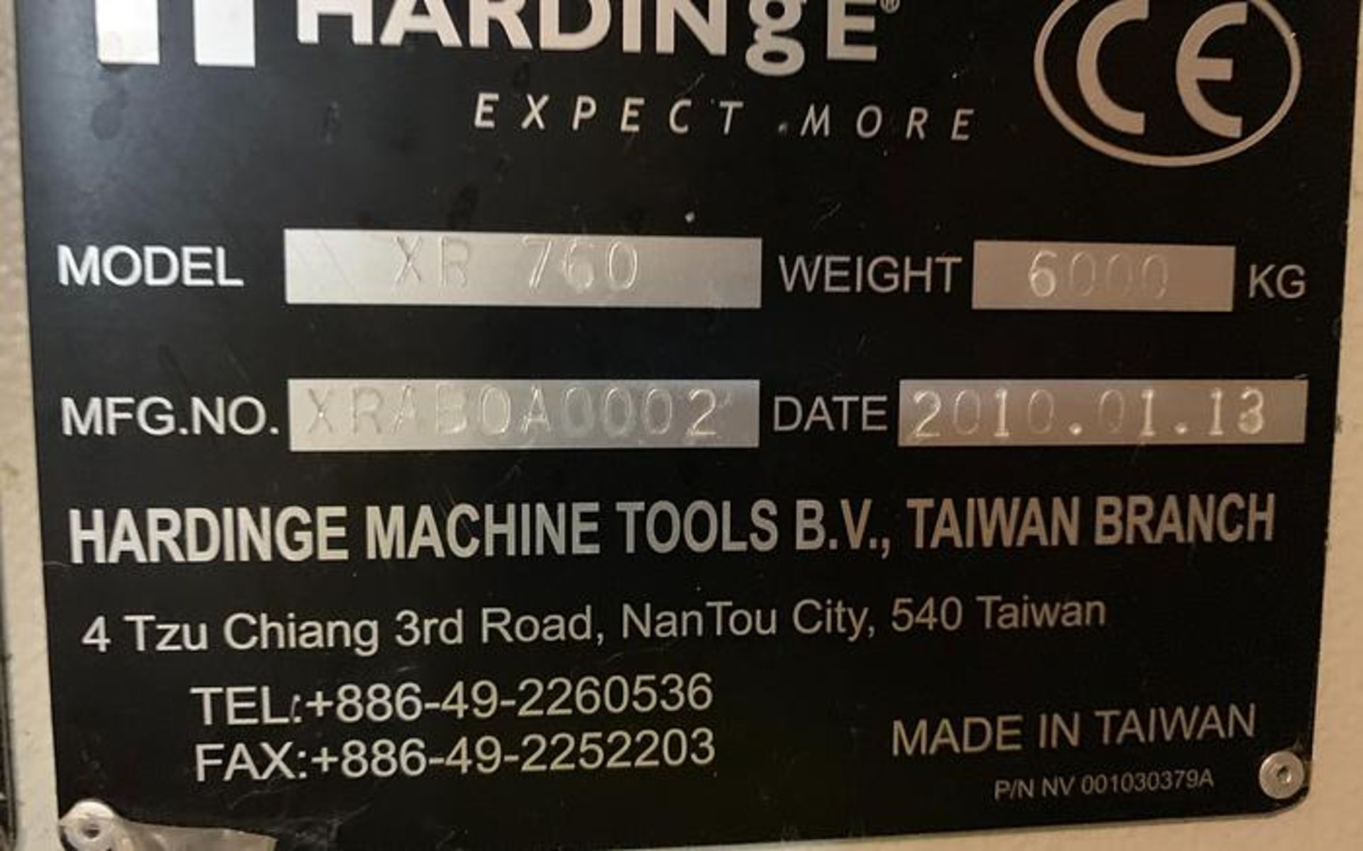 """HARDINGE XR760 VMC PRODUCTION CENTER 30""""X24""""X24"""" W/4TH AXIS TRUNION, YEAR 2010, SN XRAB0A0002 - Image 11 of 14"""