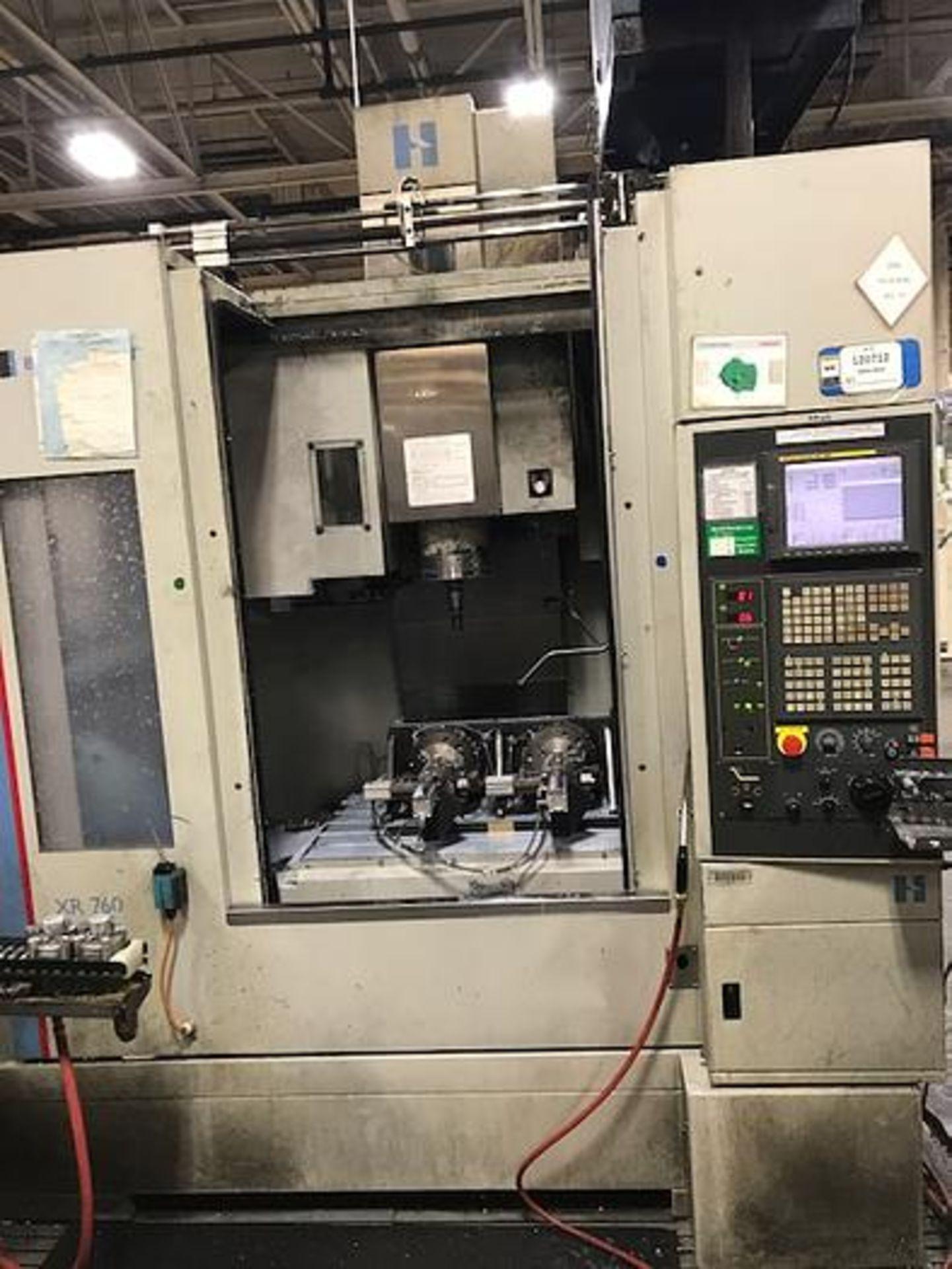 "HARDINGE XR760 CNC VMC PRODUCTION CENTER 30""X24""X24"", YEAR 2010, SN XRAB0A0001"