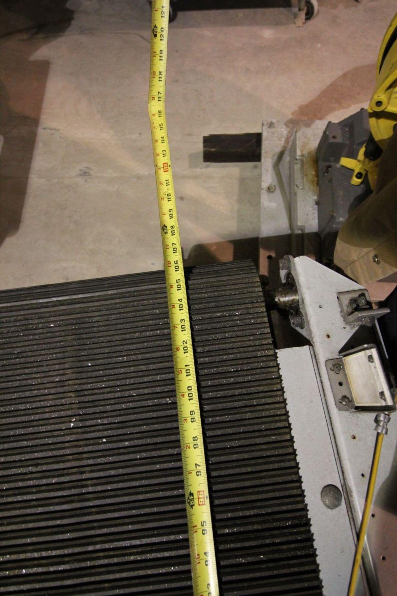 "2- BELT TYPE POWER CONVEYORS, 18"" X 106"", MARATHON MOTORS - Image 5 of 8"