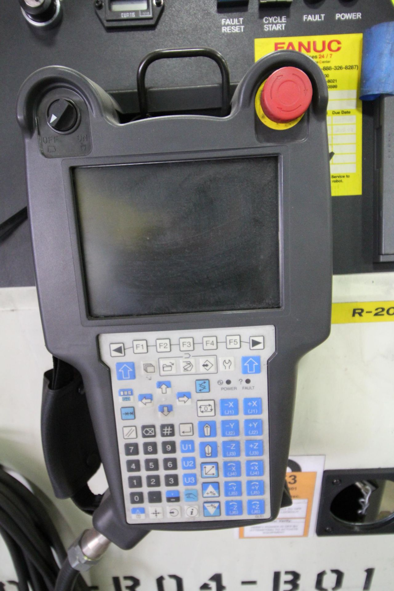 FANUC ROBOT R-2000iB/210F WITH R-30iA CONTROL, CABLES & TEACH PENDANT, SN 148715, YEAR 2014 - Image 6 of 8