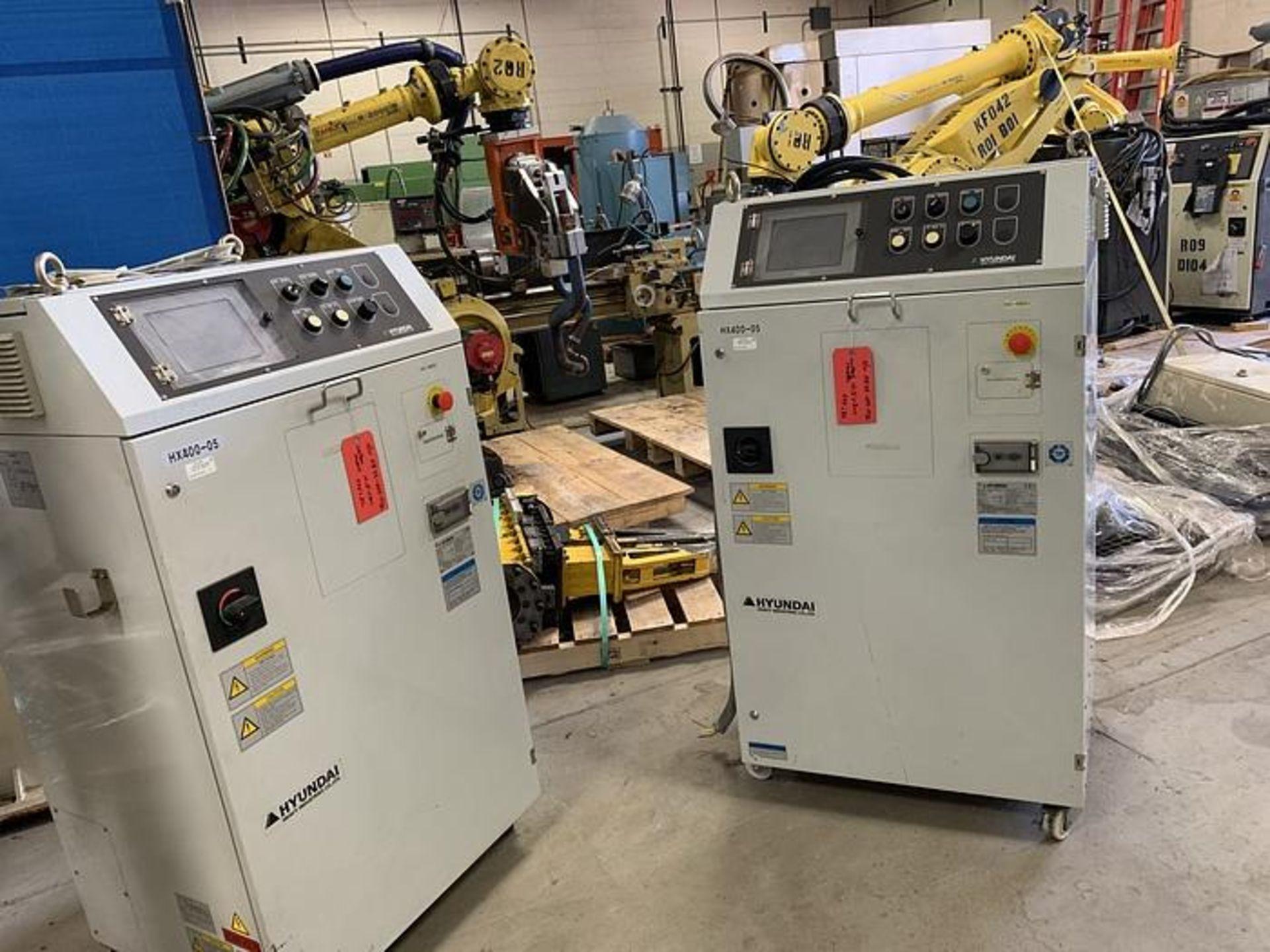 HYUNDIA MODEL HX400 400KG X 2573MM Hi5-N80U CONT. 6 AXIS CNC ROBOT, YEAR 2012, SN HB35-054-572 - Image 5 of 21