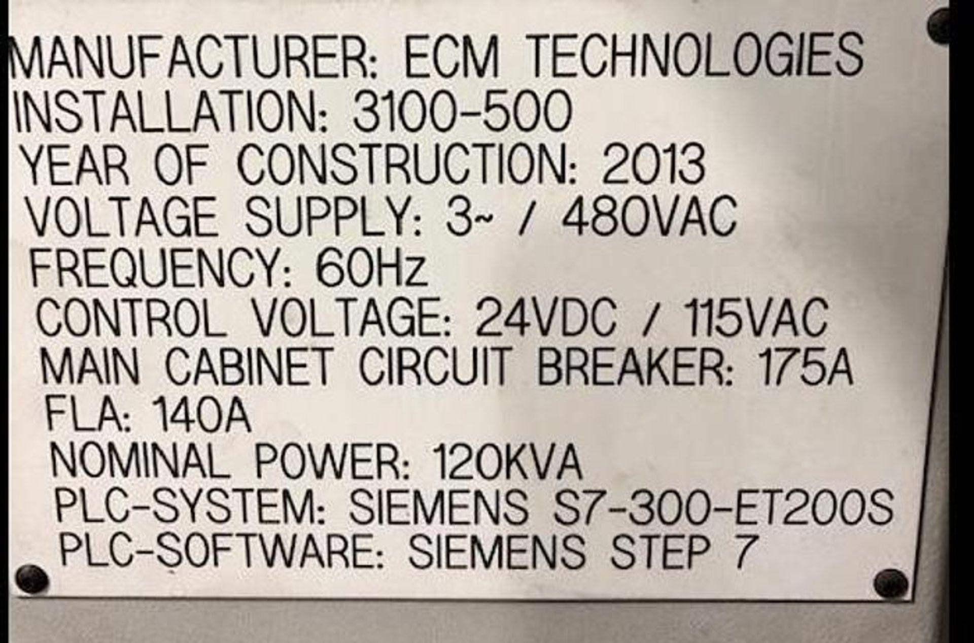 ECM TECHNOLOGIES VACUM CARBURIZING FURNACE, NEW 2013, SN 3100-500 - Image 22 of 50