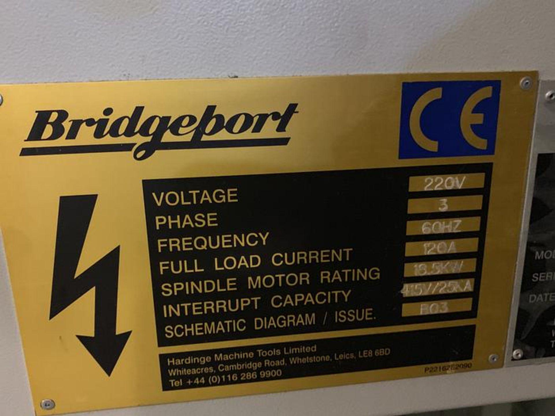 "HARDINGE BRIDGEPORT XR760 CNC VMC PRODUCTION CENTER 30""X24""X24"". YEAR 2007, SN 310D418 - Image 13 of 16"
