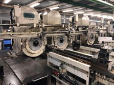 HMP 13 STATION AXLE SWAGING LINE FOR AXLES AND OTHER LIKE SHAFTS, YEAR 2015, SN 5759