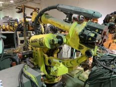 FANUC M900iA/600 6 AXIS ROBOT WITH R30iA CONTROLLER, TEACH & CABLES, SN F113405, YEAR 2011