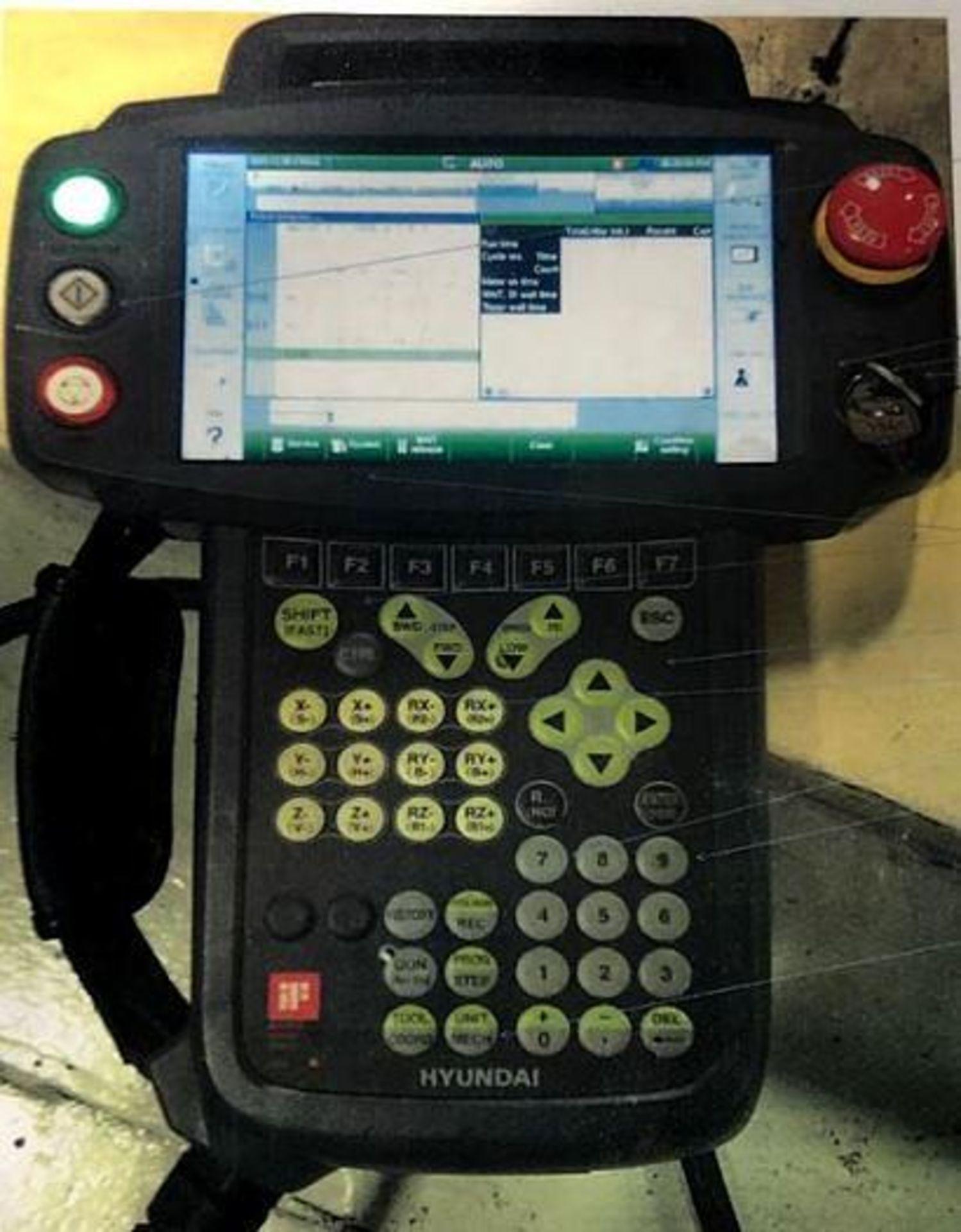 HYUNDIA MODEL HX400 400KG X 2573MM Hi5-N80U CONT. 6 AXIS CNC ROBOT, YEAR 2012, SN HB35-054-572 - Image 8 of 21